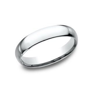 Exceptionnel Menu0027s 14k White Gold Midweight Comfort Fit 4mm Wedding Band (More Options  Available)