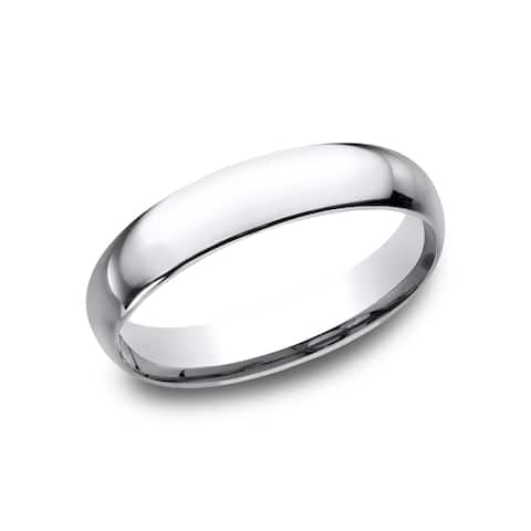 Women's 14k White Gold Midweight Comfort-fit 4mm Wedding Band - 14K White gold - 14K White gold