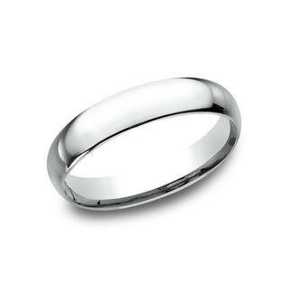 Women S 14k White Gold Midweight Comfort Fit 4mm Wedding Band