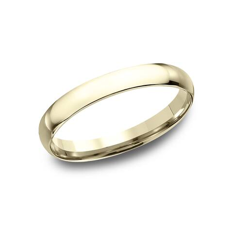 Women's 14k Yellow Gold Midweight Comfort-fit 3mm Wedding Band - 14k Yellow Gold - 14k Yellow Gold