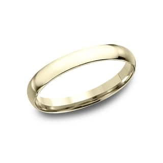 womens 14k yellow gold midweight comfort fit 3mm wedding band - Wedding Rings Yellow Gold