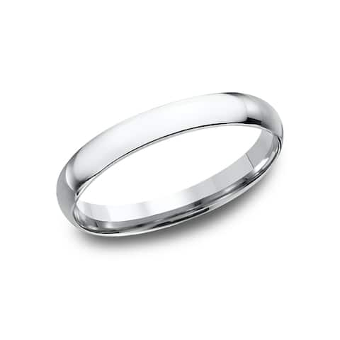 Women's 14k White Gold Midweight Comfort-fit 3mm Wedding Band - 14K White gold - 14K White gold