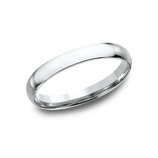 womens 14k white gold midweight comfort fit 3mm wedding band - White Gold Wedding Ring