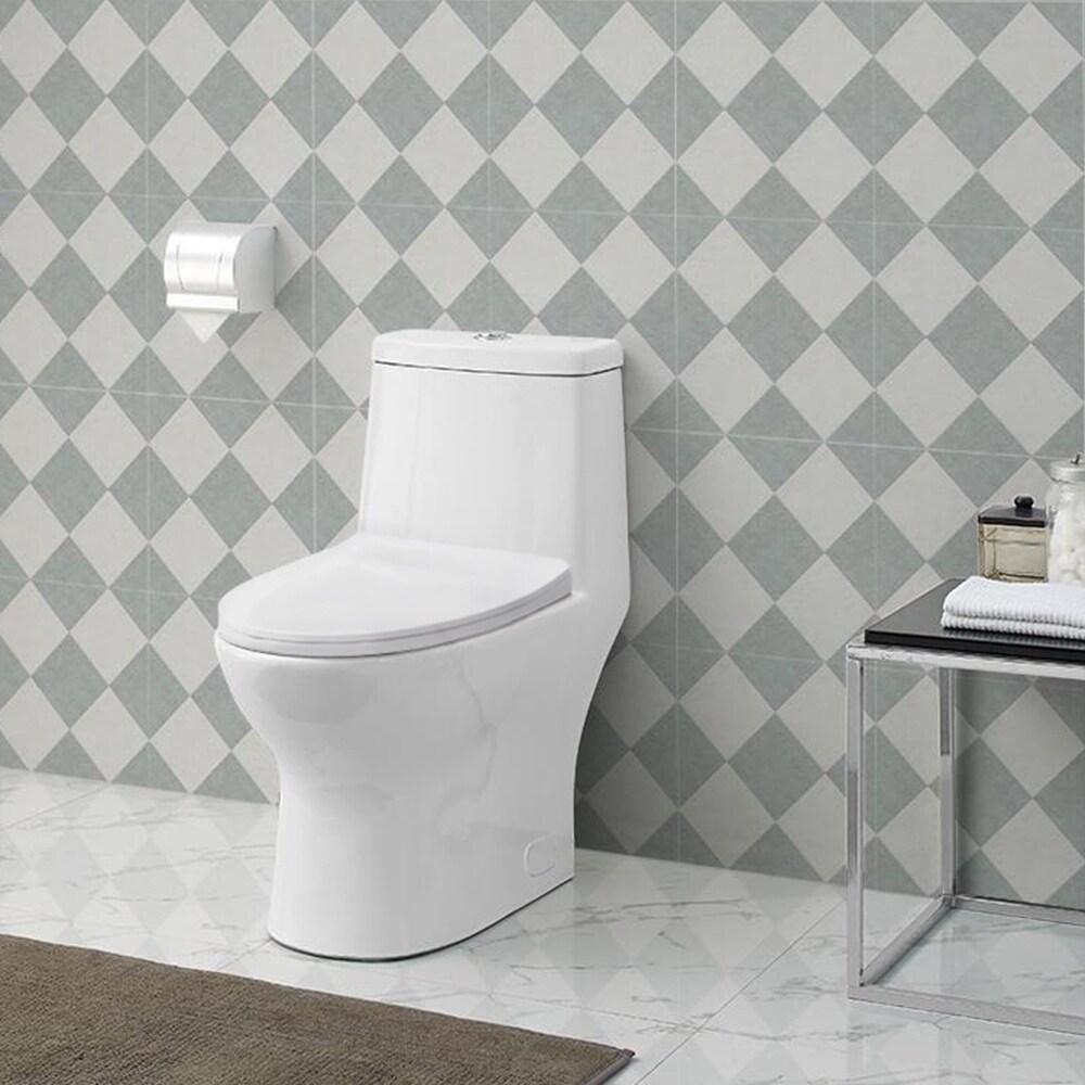 Swiss Madison Ivy (Green) One Piece Toilet Dual Tornado F...