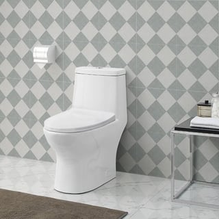 bathroom toilets. Swiss Madison Ivy One Piece Toilet Dual Tornado Flush 1 28 gpf Bathroom Toilets For Less  Overstock com