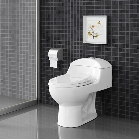 Swiss Madison SM-1T803 Chateau One Piece Elongated Dual 0.8/1.28 GPF Toilet - White