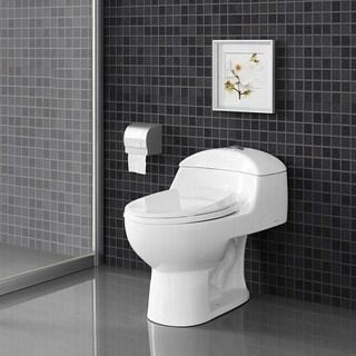 Swiss Madison Chateau One Piece Elongated Toilet Dual Flush 0.8/1.28 gpf - White