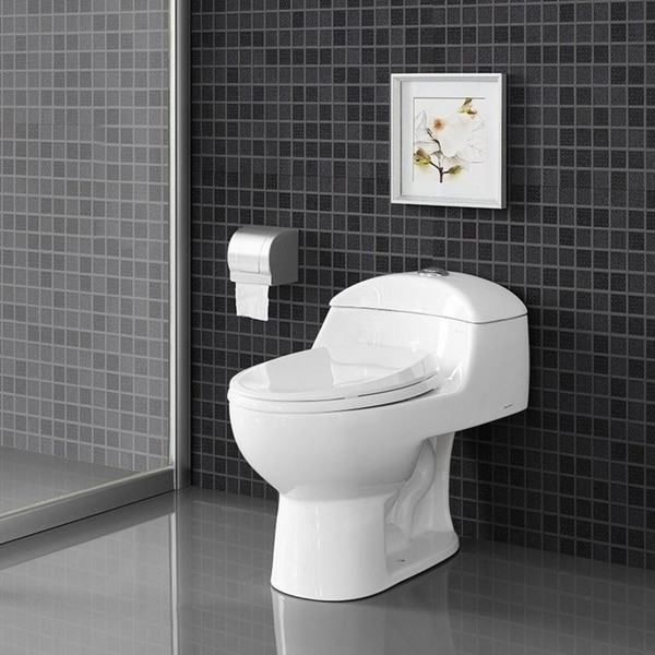 Swiss Madison SM-1T803 Chateau One Piece Elongated Dual 0.8/1.28 GPF Toilet - White. Opens flyout.