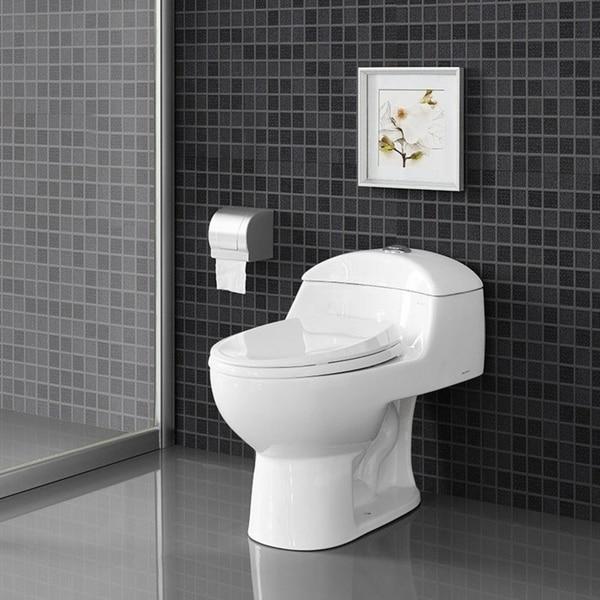 Swiss Madison SM-1T803 Chateau One Piece Elongated Dual 0.8/1.28 GPF Toilet - White