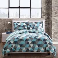 Style 212 Madison Blue Triangles Reversible Comforter Mini Set
