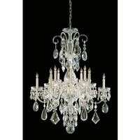 Crystorama Traditional Crystal Collection 12-light Polished Brass/Crystal Chandelier - Polished Brass