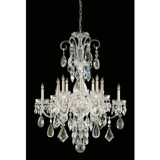 Crystorama Traditional Crystal Collection 12-light Polished Brass/Crystal Chandelier