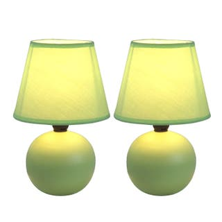 Buy green ceramic table lamps online at overstock our best simple designs ceramic mini globe table lamps set of 2 aloadofball Images