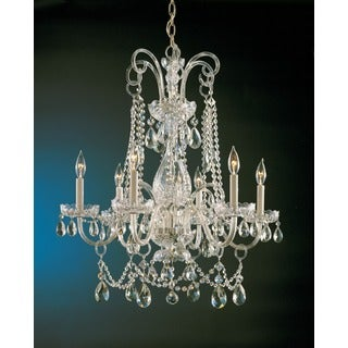 Crystorama Traditional Crystal Collection 6-light Polished Brass/Swarovski Spectra Crystal Chandelier - Gold