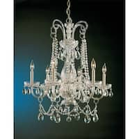 Crystorama Traditional Crystal Collection 6-light Polished Brass/Crystal Chandelier - Gold
