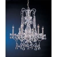 Crystorama Traditional Crystal Collection 6-light Polished Chrome/Crystal Chandelier - Chrome