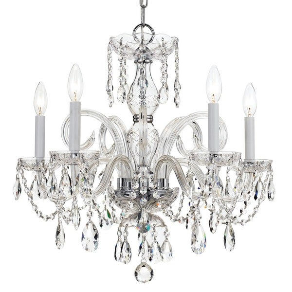 Strass Crystal Chandelier Crystorama traditional crystal collection 5 light polished chrome crystorama traditional crystal collection 5 light polished chromeswarovski strass crystal chandelier audiocablefo