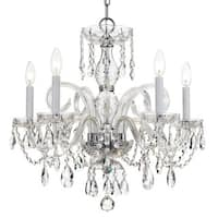 Crystorama Traditional Crystal Collection 5-light Polished Chrome/Swarovski Elements Strass Crystal Chandelie