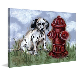 Marmont Hill - 'Spot' by Reesa Qualia Painting Print on Wrapped Canvas
