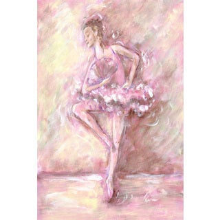 Marmont Hill - 'En Pointe' by Reesa Qualia Painting Print on Wrapped Canvas
