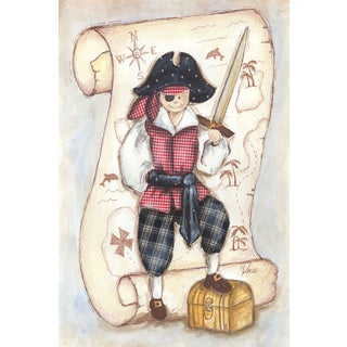 Marmont Hill - 'Pirate' by Reesa Qualia Painting Print on Wrapped Canvas