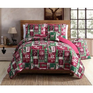 VCNY Home Holiday Patch 5 Piece Quilt Set