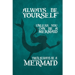Marmont Hill - 'Be a Mermaid II' by Gareth Clegg Painting Print on Wrapped Canvas