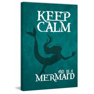 Marmont Hill - 'Keep Calm Mermaid II' by Gareth Clegg Painting Print on Wrapped Canvas