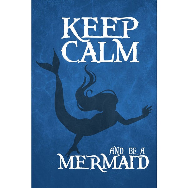 Marmont Hill - 'Keep Calm Mermaid I' by Gareth Clegg Painting Print on Wrapped Canvas