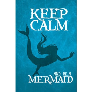 Marmont Hill - 'Keep Calm Mermaid III' by Gareth Clegg Painting Print on Wrapped Canvas
