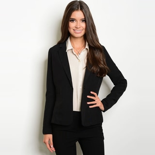 Shop the Trends Women's Long-sleeve Collared Blazer Jacket