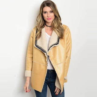 Shop The Trends Women's Beige Polyester Long Sleeve Jacket