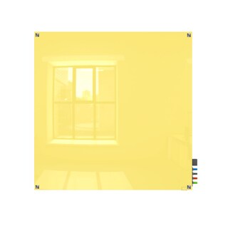 Ghent Harmony Yellow 4'x4' Square Corners Dry Erase Glassboard