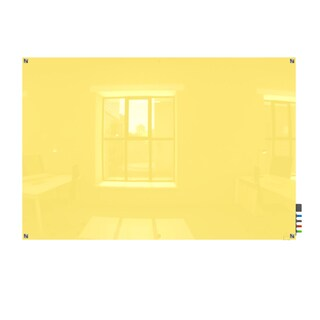 Ghent Harmony Yellow 2'x3' Square-corner Glassboard