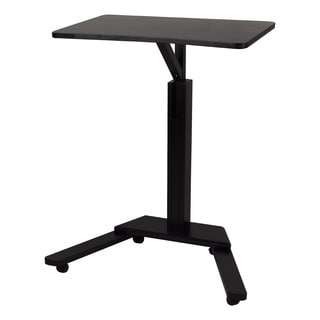 Contemporary Trek Black Wood and Metal Desk/ Podium