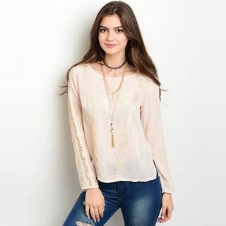 Shop The Trends Women's Black Long Sleeve Sheer Top