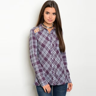 Shop The Trends Women's Long-sleeve Button-down Top