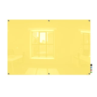 Harmony Yellow 4x6 Square Corner Magnetic Glassboard