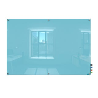 Harmony Magnetic Blue Glass 4x6 Dry Erase Board