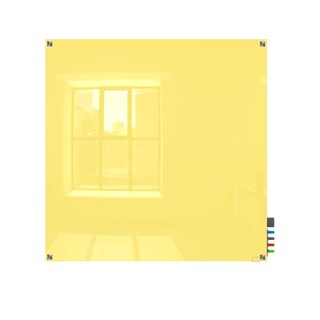 Ghent Harmony Yellow 4'x4' Magnetic Glassboard