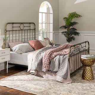 Bronze Metal Pipe Queen Bed - 63 x 85 x 56h