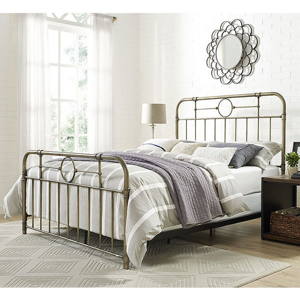 Bronze Metal Pipe Queen Bed Free Shipping Today