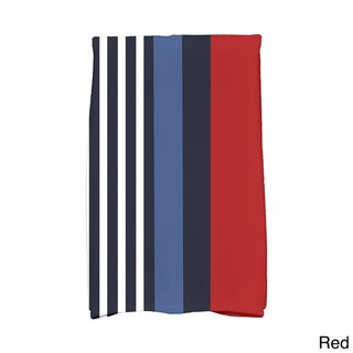 16 x 25-inch, Beach Shack, Stripe Print Hand Towel