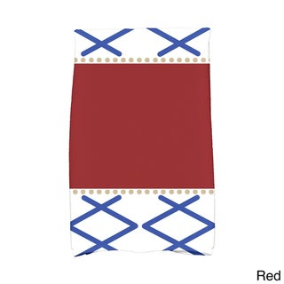 16 x 25-inch, Knot Fancy, Geometric Print Hand Towel