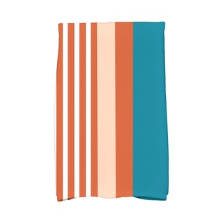 16 x 25-inch, Beach Shack, Stripe Print Kitchen Towel