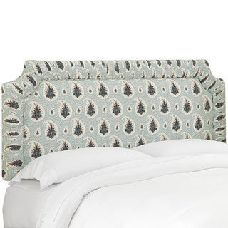 Skyline Furniture Zulla Emerald Shirred Border Headboard