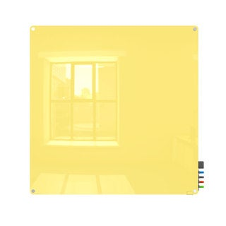 Harmony Yellow Glass 4x4 Dry Erase Board