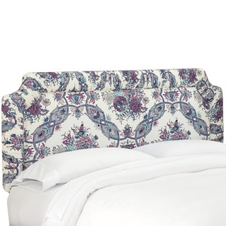 Skyline Furniture Shirred Border Headboard in Sissy Purple