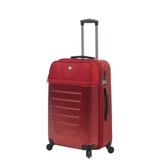 Mia Toro Italy Glorenza 24-inch Red Expandable Hardside Spinner Suitcase