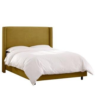 Skyline Furniture Wingback Bed in Mystere Velvet